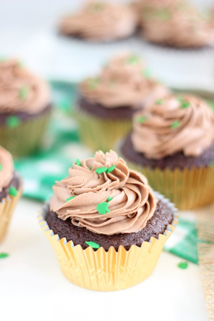 guinness chocolate truffle cupcakes with bailey's frosting 4
