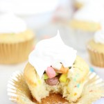Lucky Charms Cupcakes with Marshmallow Frosting