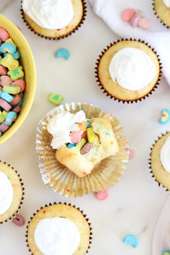lucky charms cupcakes with marshmallow frosting 16
