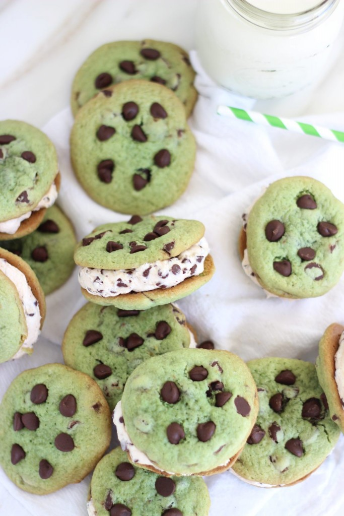 mint chocolate chip cookie sandwiches 11