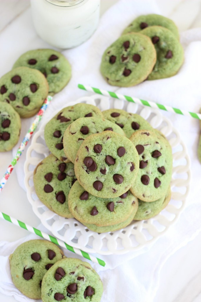 mint chocolate chip cookie sandwiches 3