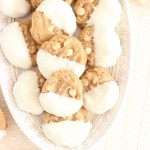 White Chocolate-Dipped Peanut Butter Cookies