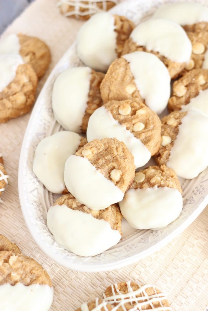 white chocolate dipped peanut butter cookies 16