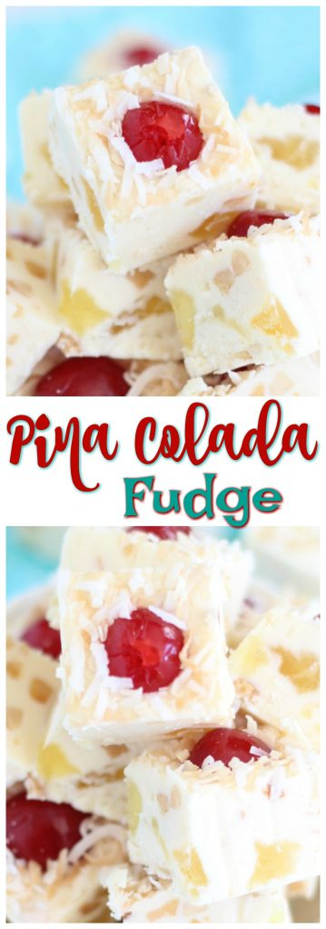 5 Minute Pina Colada Fudge