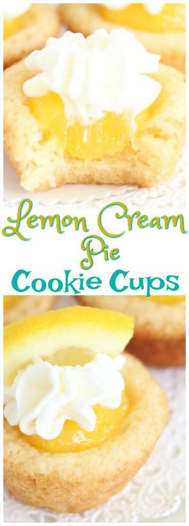 Lemon Cream Pie Cookie Cups pin 1