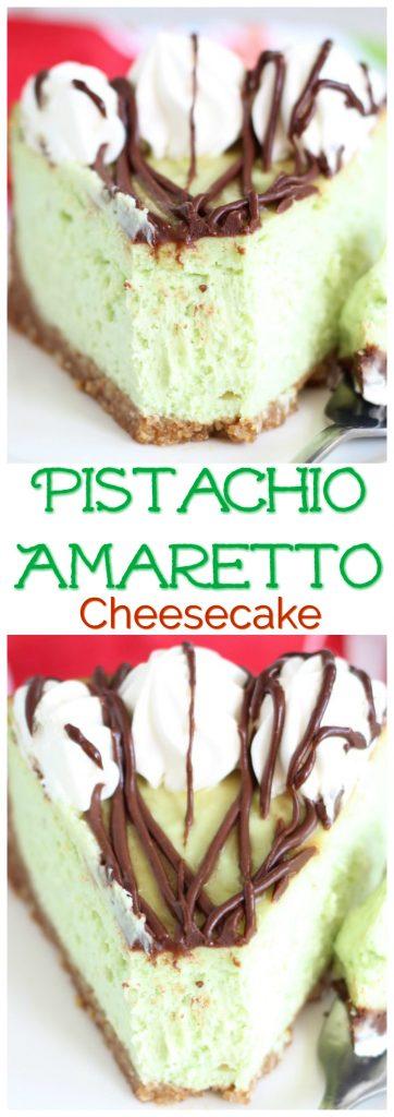 Pistachio Amaretto Cheesecake pin 1