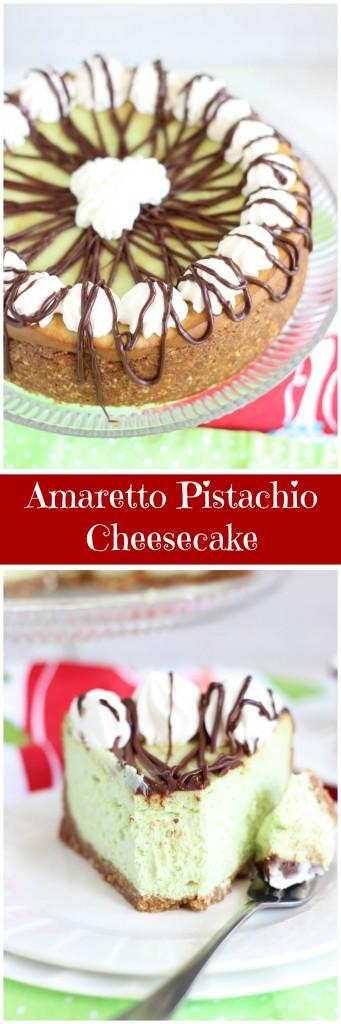 amaretto pistachio cheesecake pin