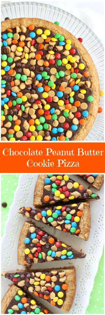 chocolate peanut butter cookie pizza pin