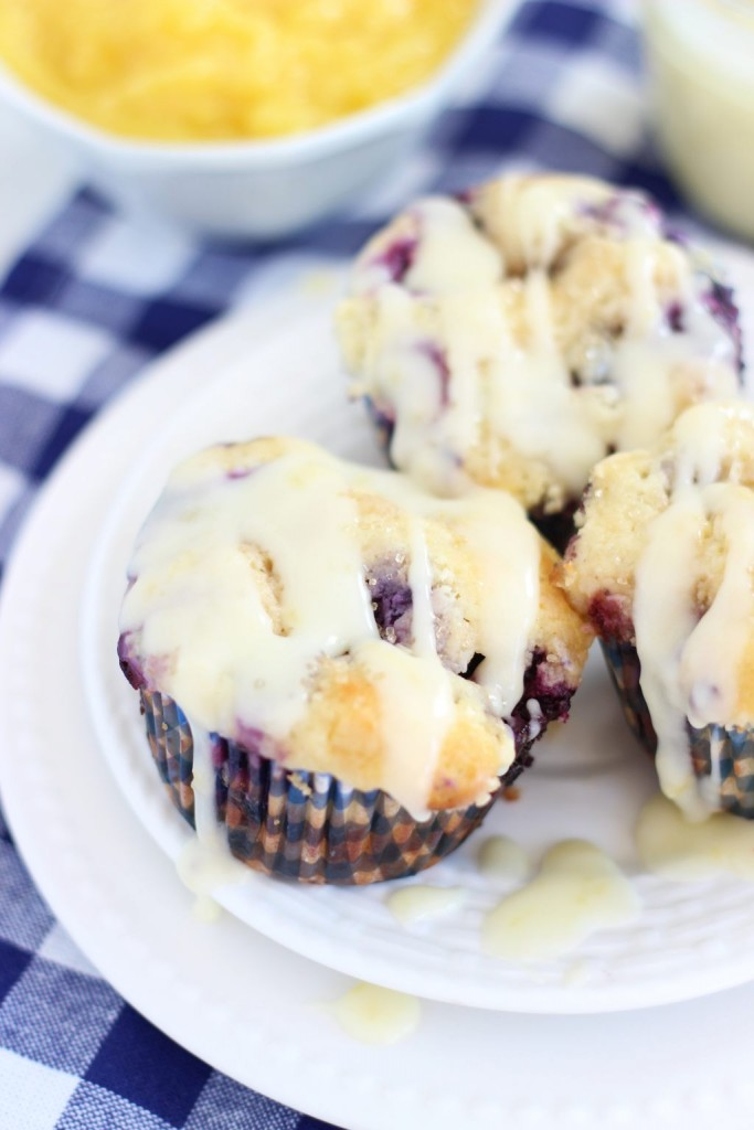 lemon blueberry cheesecake muffins with lemon glaze 15