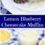 Lemon Blueberry Cheesecake Muffins with Lemon Glaze