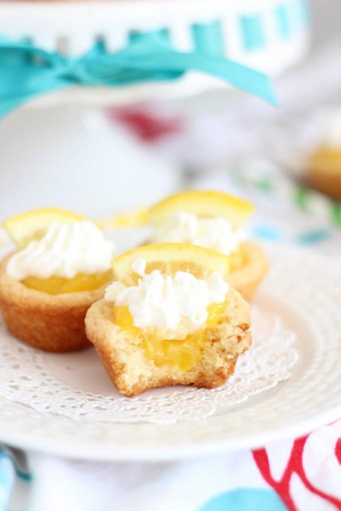 lemon cream pie cookie cups 21