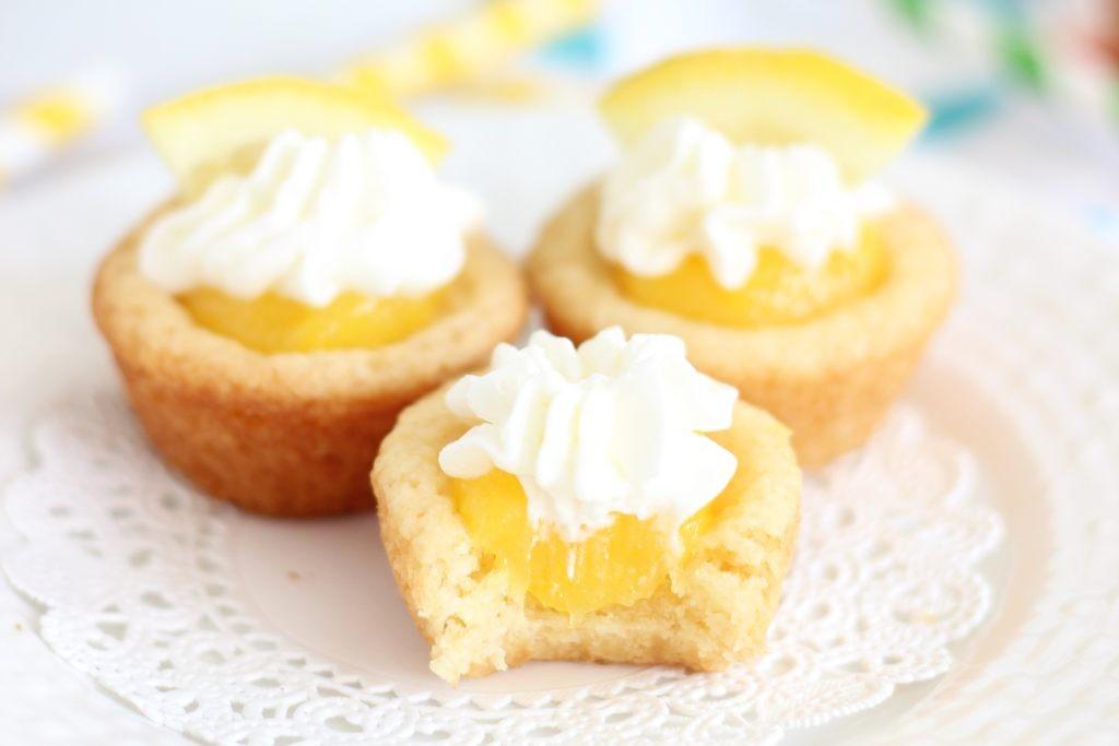 lemon cream pie cookie cups 23