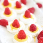 Meringue Nests with Orange Curd and Raspberries