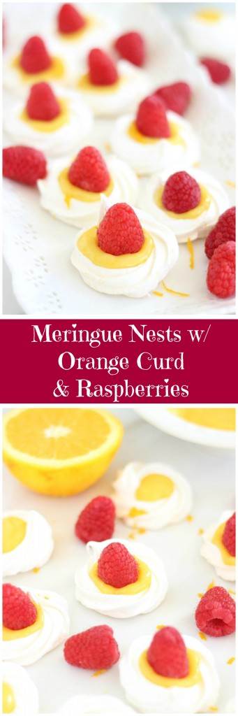 meringue nests with orange curd and raspberries pin