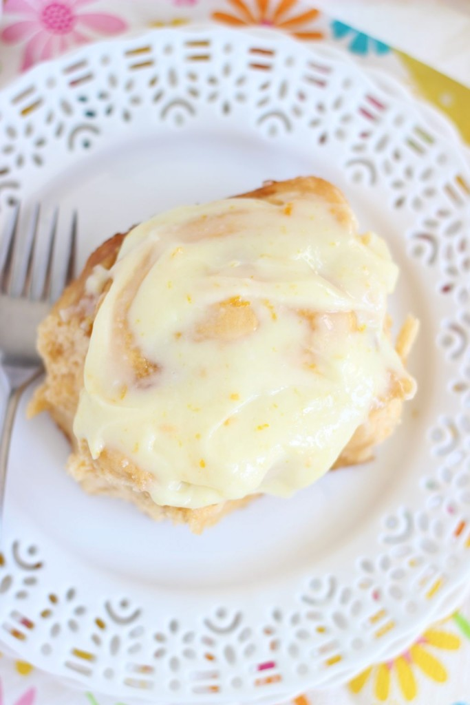 orange sweet rolls with orange cream cheese glaze 17