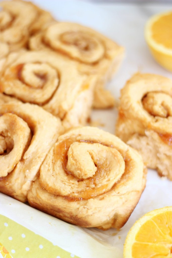 orange sweet rolls with orange cream cheese glaze 8