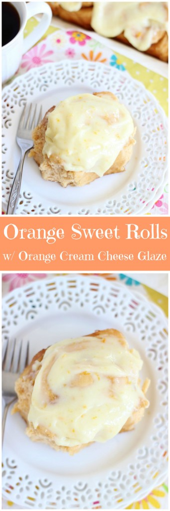 orange sweet rolls with orange cream cheese glaze pin