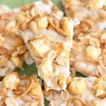 Salted Peanut Butterscotch & Caramel Corn White Chocolate Bark