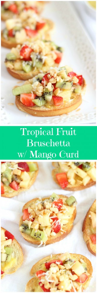 tropical bruschetta with mango curd pin