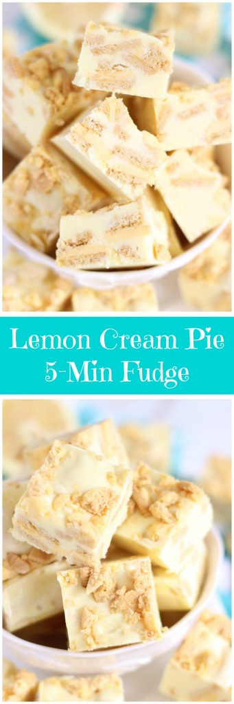 5-minute lemon cream pie fudge pin