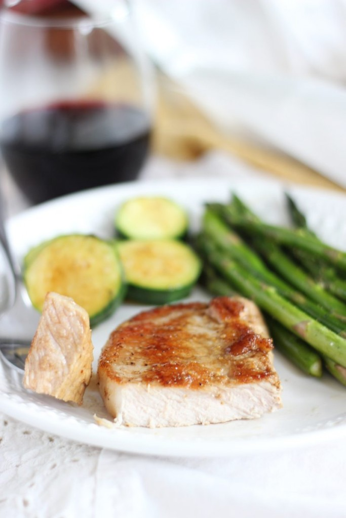 honey balsamic baked pork chops 11