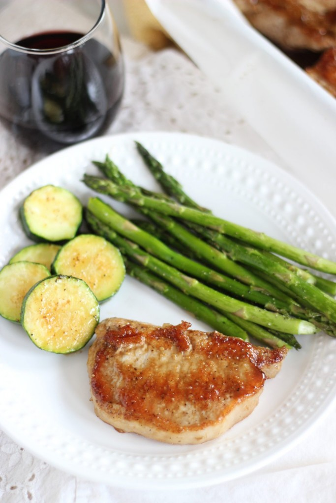honey balsamic baked pork chops 6