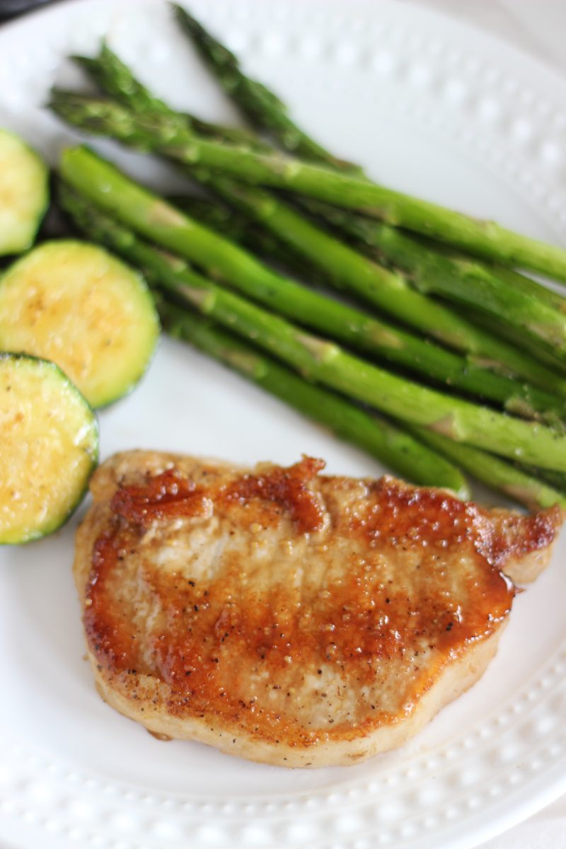 Double pork chop recipe this morning