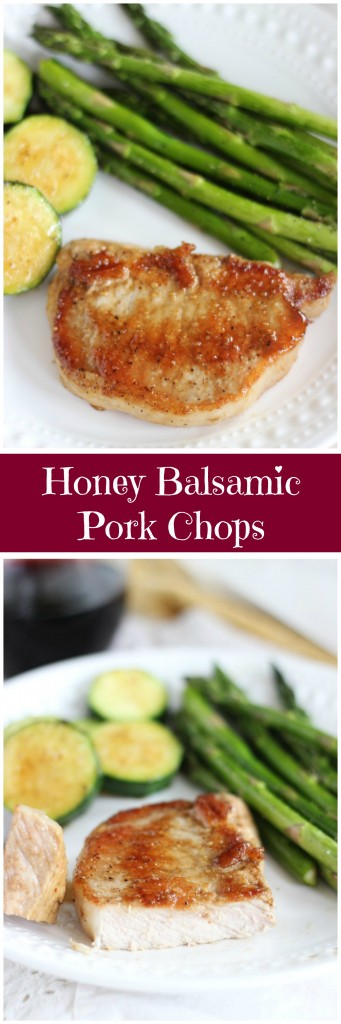 honey balsamic baked pork chops pin