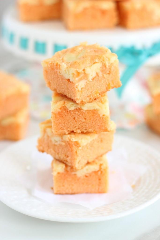 orange creamsicle cheesecake bars 9