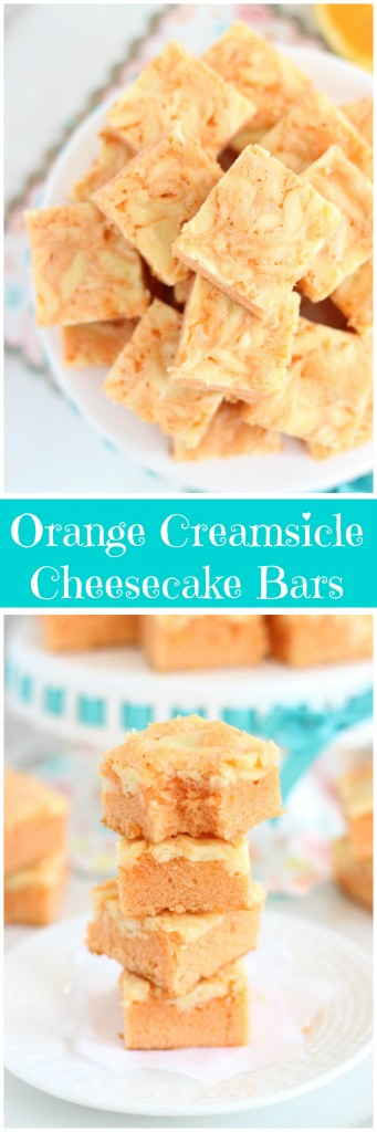 orange creamsicle cheesecake bars pin