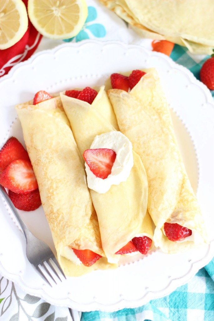 strawberry lemonade crepes 8