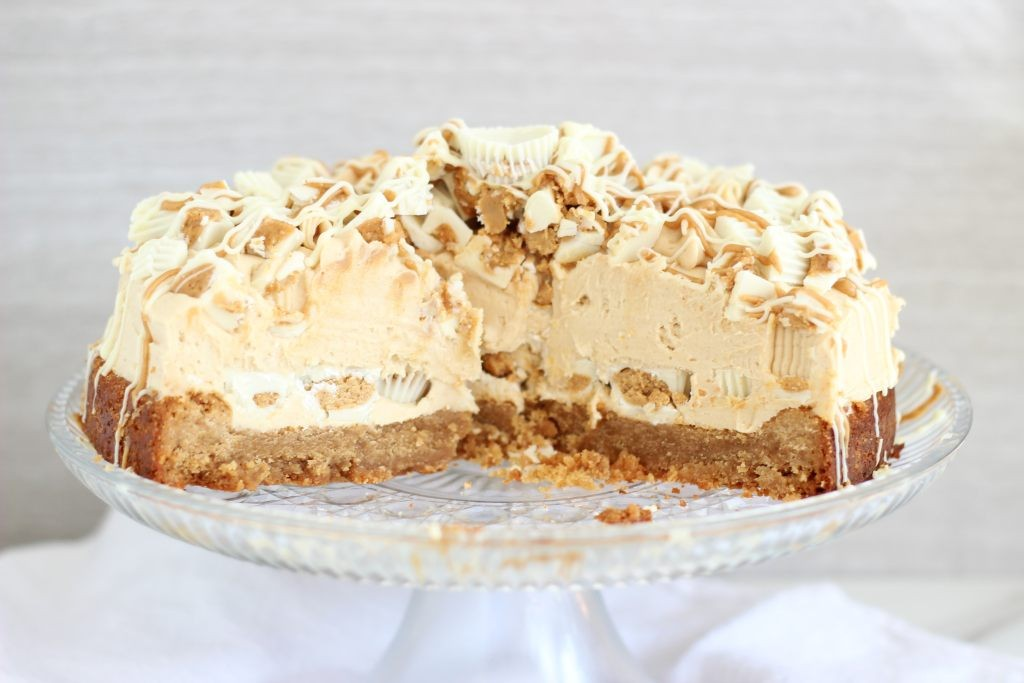 white chocolate peanut butter blondie cheesecake 46