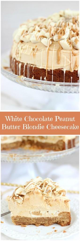 white chocolate peanut butter blondie cheesecake pin