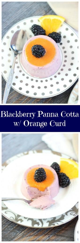 blackberry panna cotta with orange curd pin