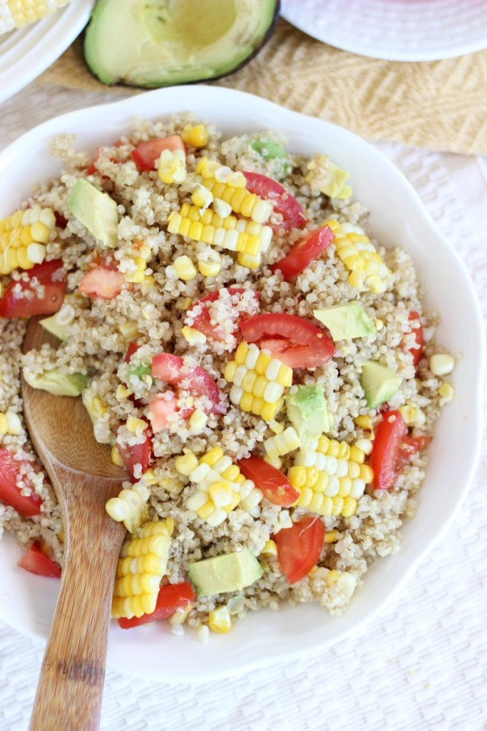 corn avocado tomato quinoa salad 13
