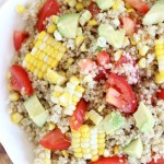Corn, Avocado & Tomato Quinoa Salad