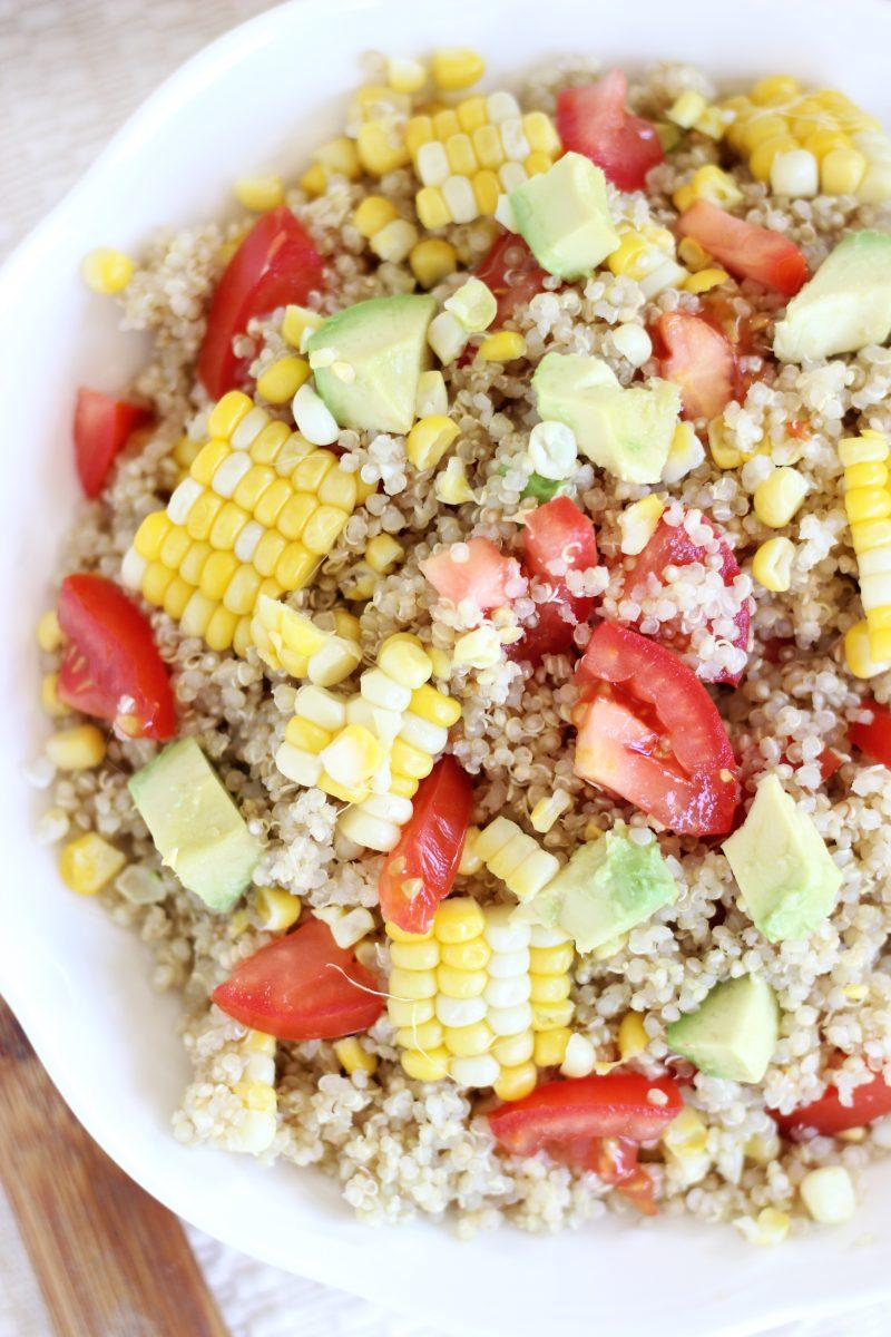 Corn, Avocado & Tomato Quinoa Salad