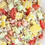 corn avocado tomato quinoa salad 9