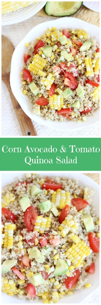 corn avocado tomato quinoa salad pin