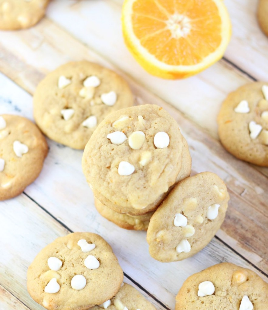 orange white chocolate chip cookies 7