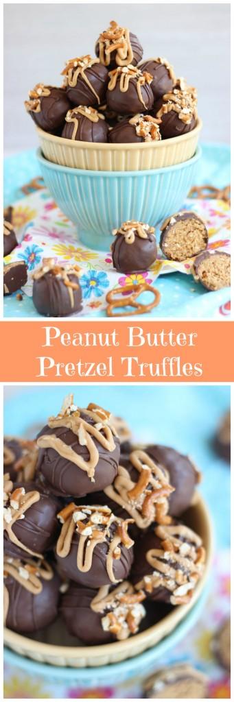peanut butter pretzel truffles pin