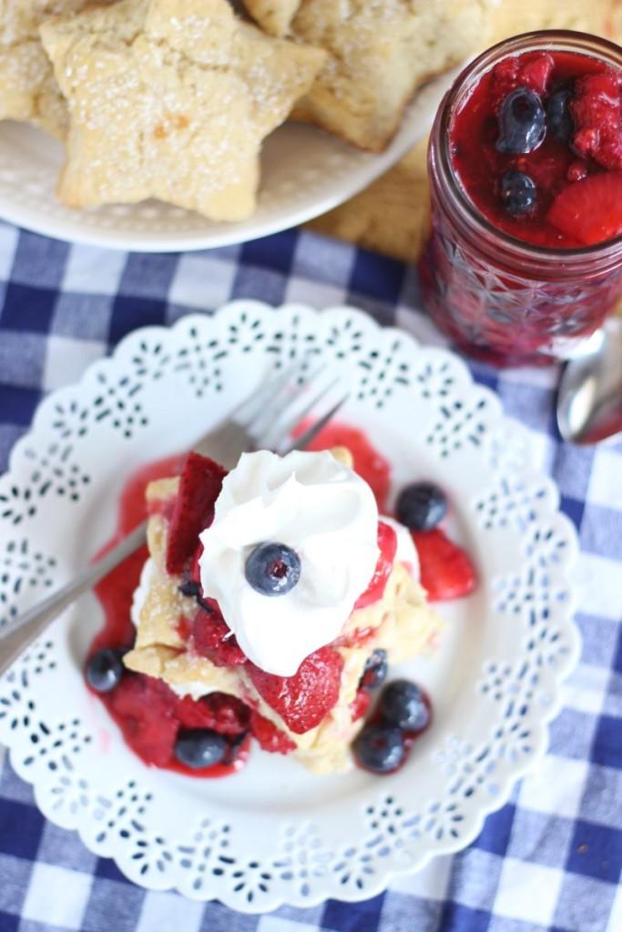 red white blue shortcake stars mixed berry shortcakes 14