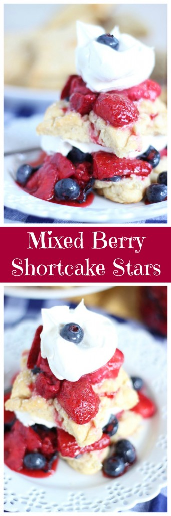 red white blue shortcake stars mixed berry shortcakes pin