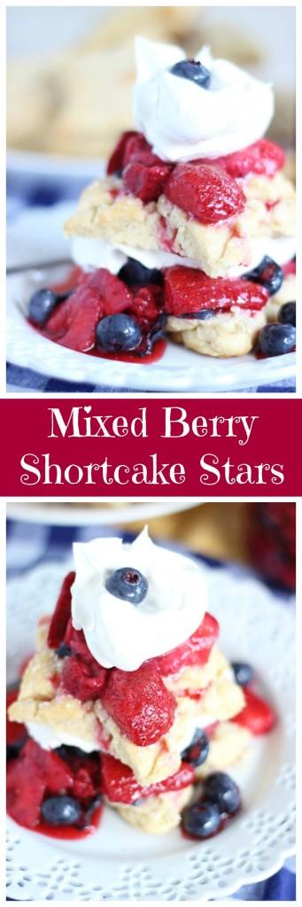 red white blue shortcake stars mixed berry shortcakes pin