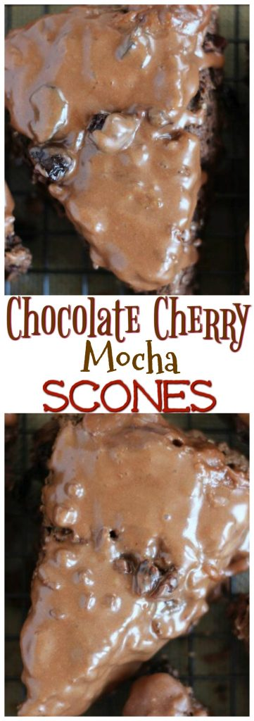 Chocolate Cherry Mocha Scones pin 1