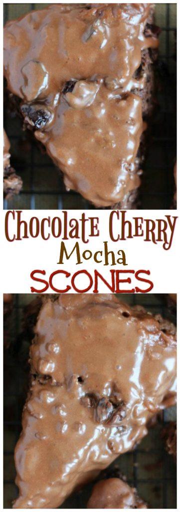 Chocolate Cherry Mocha Scones pin 1