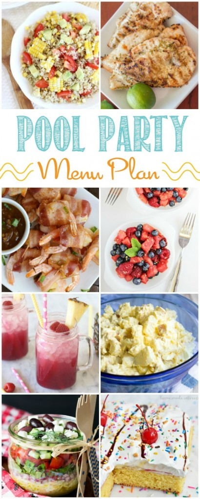 Pool Party Menu Plan HERO