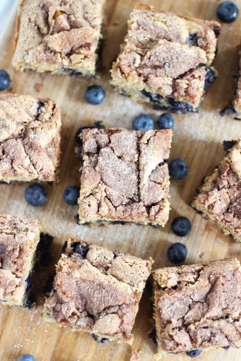 Oat Flour Blueberry Coffee Cake