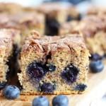 Blueberry Cinnamon Swirl Protein Coffee Cake