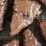 chocolate cherry mocha scones with chocolate glaze 7